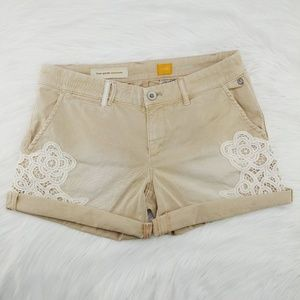 Anthro Pilcro | Hyphen Lace Chino Shorts
